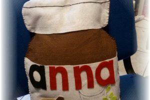 Cuscino pannolenci barattolo di nutella
