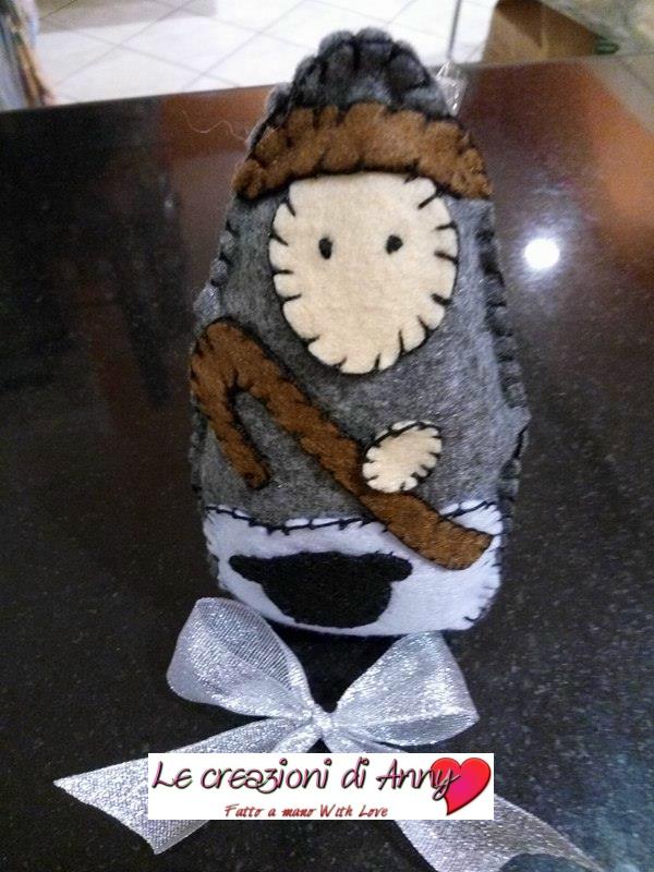 Pastorello in pannolenci realizzato a mano
