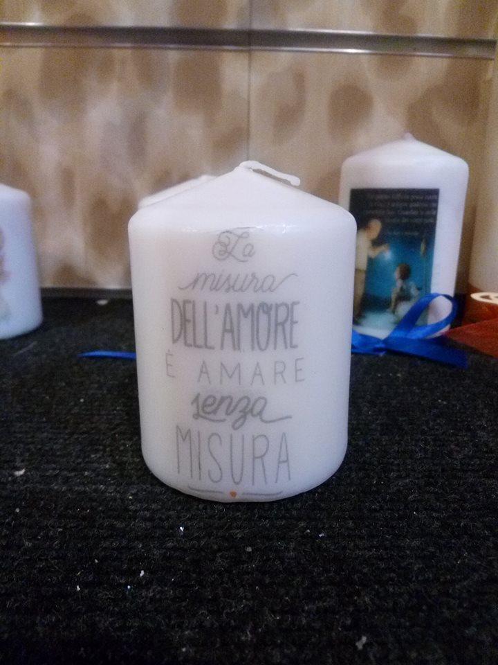 Candele personalizzate handmade