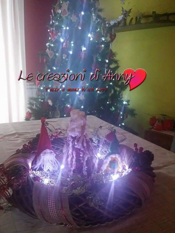 Centrotavola natalizio bosco incantato