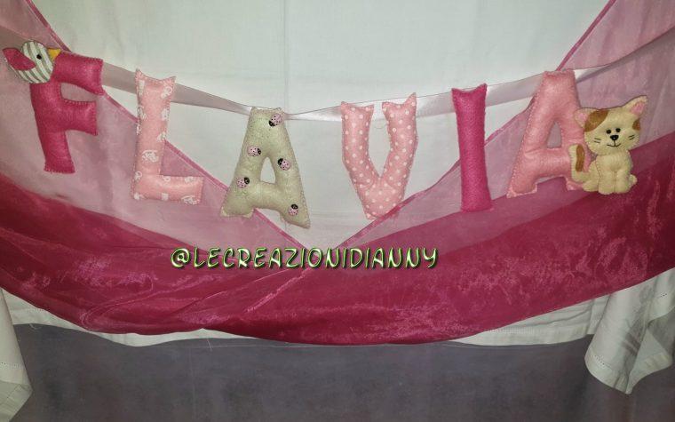 Banner pannolenci personalizzato